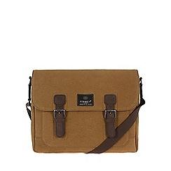 Conkca London - Bark brown 'Soho' canvas and leather satchel