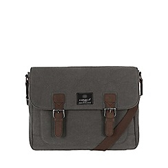 Conkca London - Slate 'Soho' canvas and leather satchel