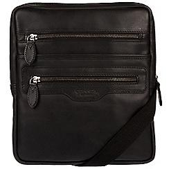 Conkca London - Black 'Hoya' natural leather despatch bag