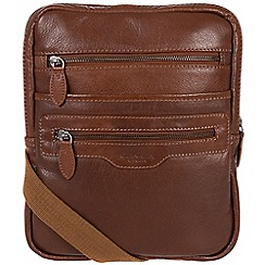 Conkca London - Conker brown 'Hoya' handcrafted leather despatch bag