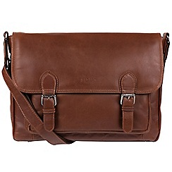 Conkca London - Conker Brown 'Brixton' Natural Leather Satchel