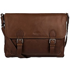 Conkca London - Dark brown 'Brixton' fine cowhide satchel