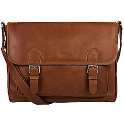Conkca London - Whiskey 'Brixton' fine cowhide satchel