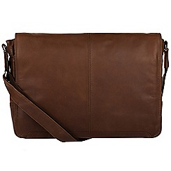 Conkca London - Dark brown 'Bermondsey' fine leather messenger bag