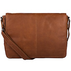 Conkca London - Whiskey 'Bermondsey' fine leather messenger bag