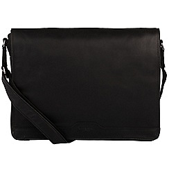 Conkca London - Black 'Islington' handcrafted leather messenger bag