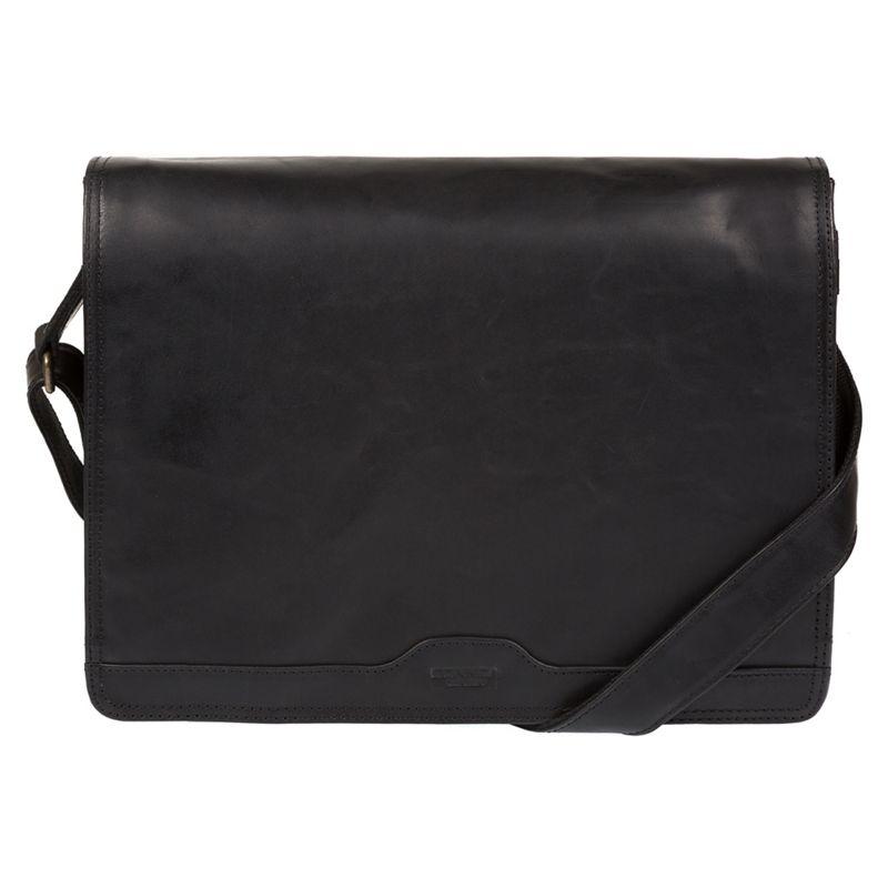Conkca London - Black Islington Buffalo Leather Messenger