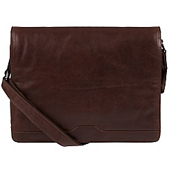Conkca London - Conker brown 'Islington' handcrafted leather messenger bag