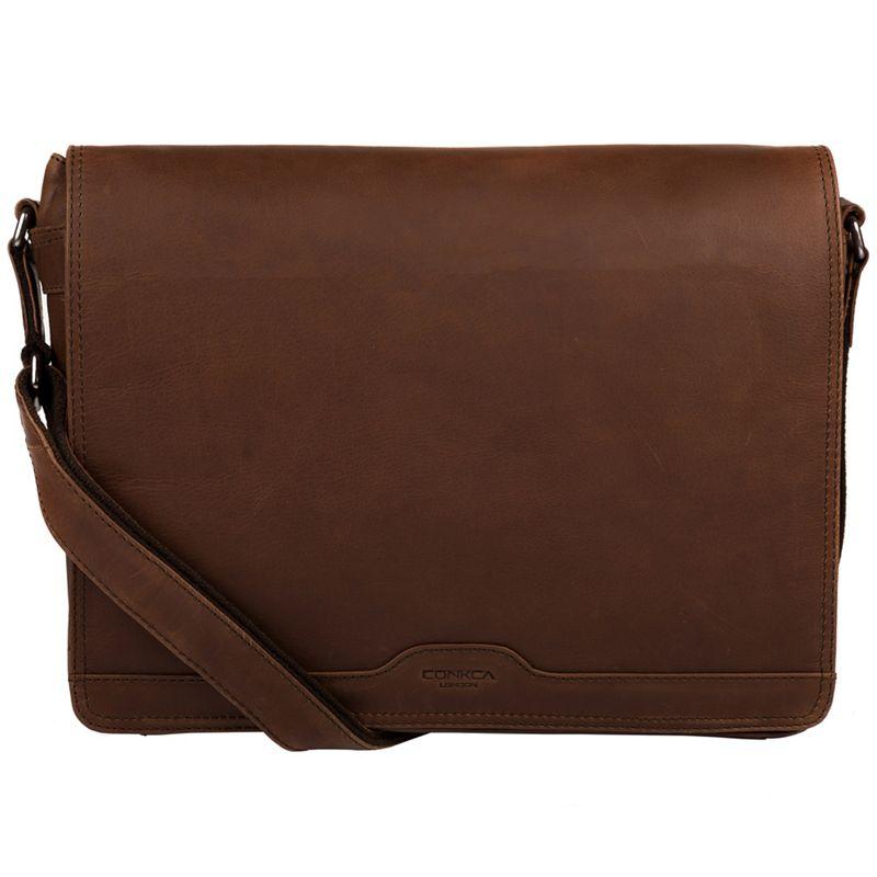 Conkca London Dark brown Islington handcrafted leather