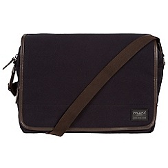 Conkca London - Navy 'Shoreditch' 16oz canvas and leather messenger bag