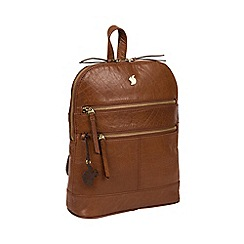 Conkca London - Conker brown 'Francisca' handcrafted leather backpack
