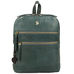 Conkca London - Denim blue 'Francisca' handcrafted leather backpack