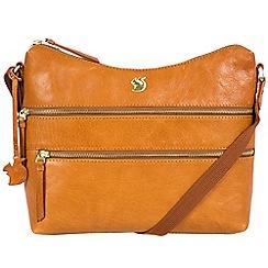 Conkca London - Cognac 'Georgia' handcrafted leather bag