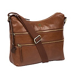 Conkca London - Conker brown 'Georgia' handbcrafted leather bag