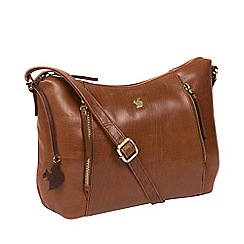 Conkca London - Conker brown 'Esta' handcrafted leather bag