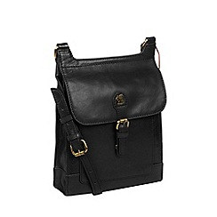 Conkca London - Black 'Sasha' handcrafted leather bag