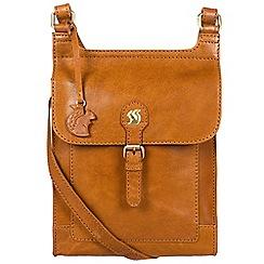 Conkca London - Cognac 'Sasha' handcrafted leather bag
