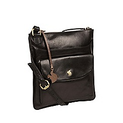 Conkca London - Black 'Lauryn' handcrafted leather bag