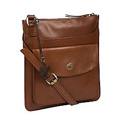 Conkca London - Conker brown 'Lauryn' handcrafted leather bag