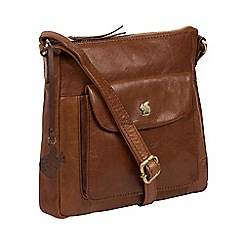 Conkca London - Conker brown 'Shona' handcrafted leather bag