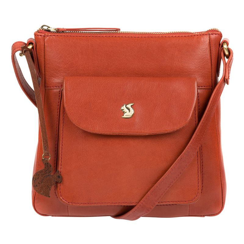 Conkca London - Burnt Orange Shona Handcrafted Leather Cross-Body Bag