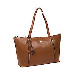 Conkca London - Conker brown 'Clover' handcrafted leather shoulder bag