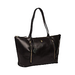 Conkca London - Black 'Clover' handcrafted leather bag