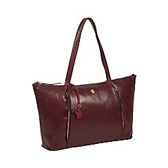 Conkca London - Plum 'Clover' handcrafted leather bag