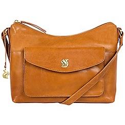 Conkca London - Cognac 'Alana' handcrafted leather bag
