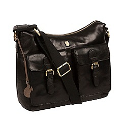 Conkca London - Black 'Nancie' handmade leather hobo bag