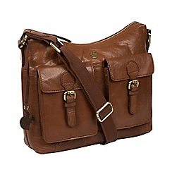 Conkca London - Conker brown 'Nancie' handcrafted leather bag