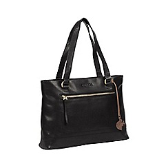 Conkca London - Black 'Alice' handcrafted leather bag