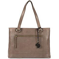 Conkca London - Dark grey 'Alice' handmade leather handbag