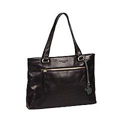 Conkca London - Black 'Alice' handmade leather handbag