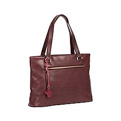 Conkca London - Plum 'Alice' handmade leather handbag
