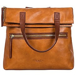 Conkca London - Cognac and conker brown 'Anoushka' handcrafted leather bag