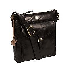 Conkca London - Black 'Josephine' handcrafted leather bag