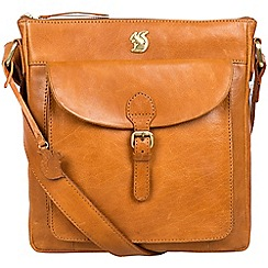 Conkca London - Cognac 'Josephine' handcrafted leather bag