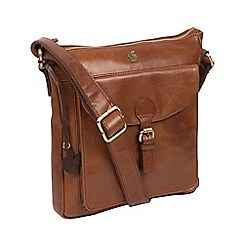Conkca London - Conker brown 'Josephine' handcrafted leather bag