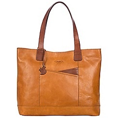 Conkca London - Cognac and conker brown 'Patience' handcrafted leather bag