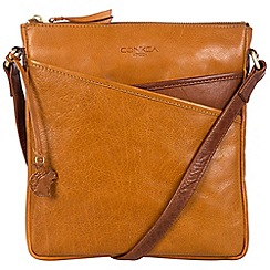 Conkca London - Cognac and conker brown 'Avril' handcrafted leather bag