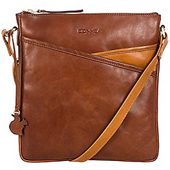 Conkca London - Conker brown and cognac 'Avril' handcrafted leather bag