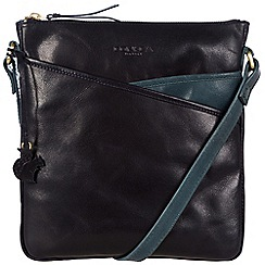 Conkca London - Navy and denim blue 'Avril' handcrafted leather bag