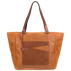 Conkca London - Cognac and conker brown 'Monique' handcrafted leather hand bag