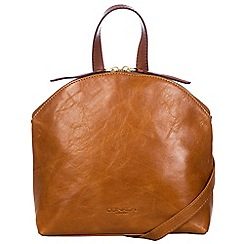 Conkca London - Cognac and conker brown 'Ingrid' handcrafted leather small bag