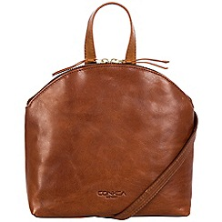 Conkca London - Conker brown and cognac 'Ingrid' handcrafted leather small bag