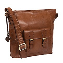 Conkca London - Conker brown 'Robyn' handcrafted leather bag