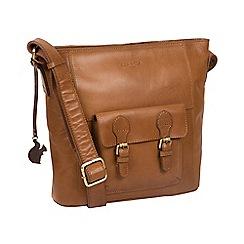 Conkca London - Dark Tan 'Robyn' handmade leather bag