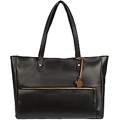 Conkca London - Black 'Maize' handcrafted leather handbag