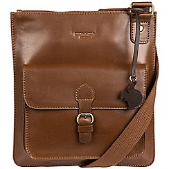 Conkca London - Chestnut 'Archway' handcrafted leather across body bag